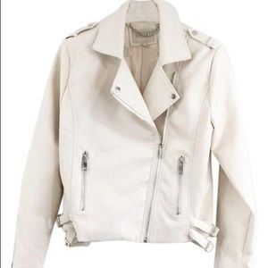 Moon River faux leather jacket